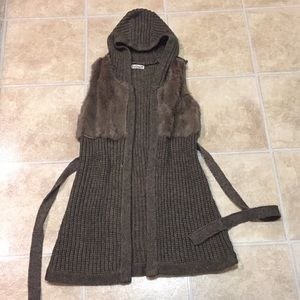 Jackets & Blazers - 3 for $15* Fur Sweater Vest with Hood